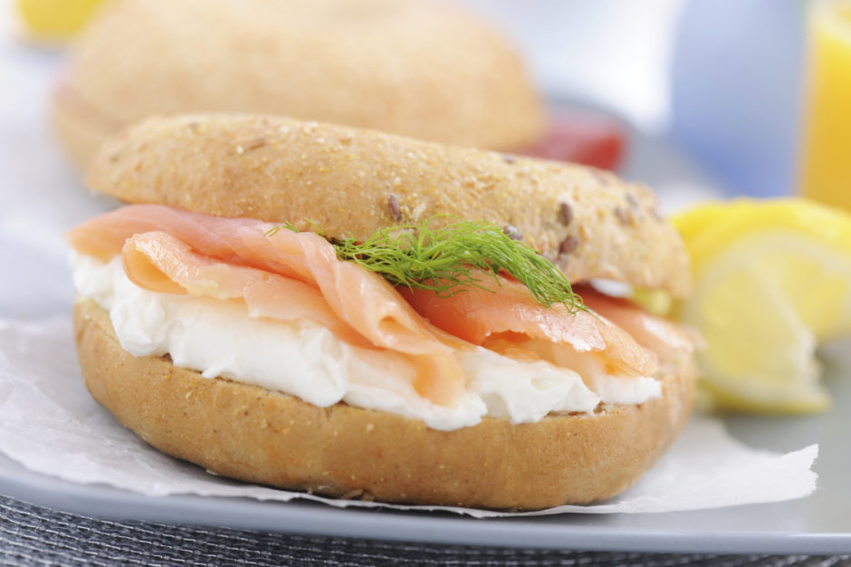 Bagels Cream cheese salmon